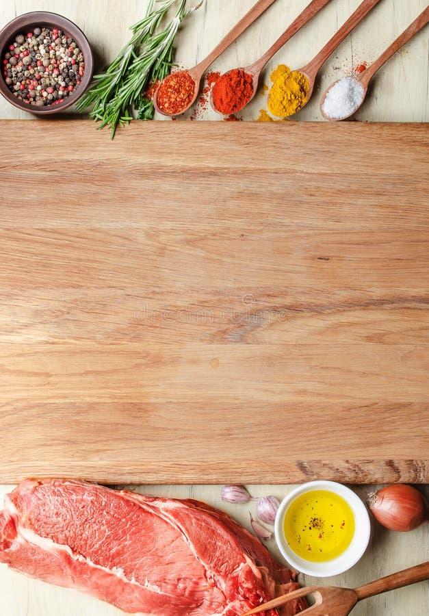 Vers rundvleeslapje vlees royalty-vrije stock foto's