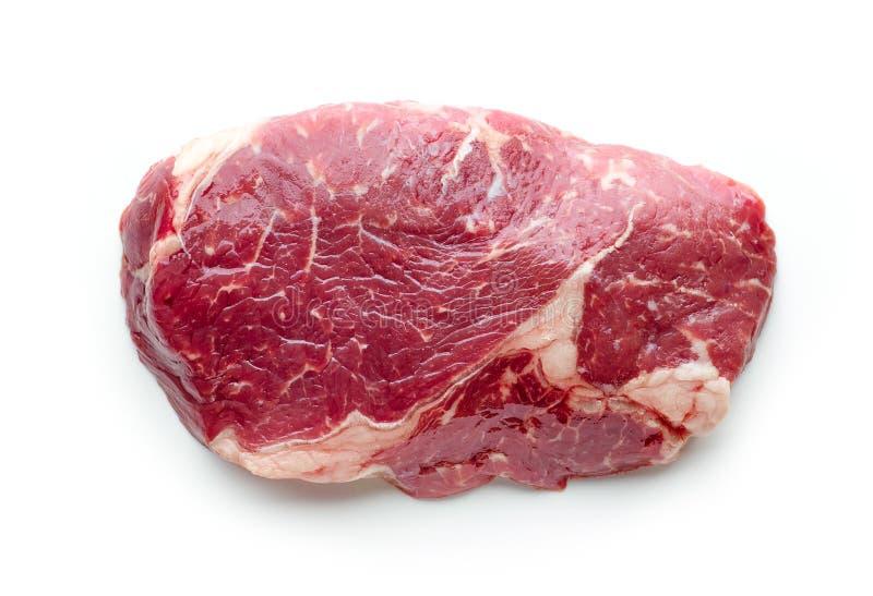 Vers ruw rundvleeslapje vlees stock foto