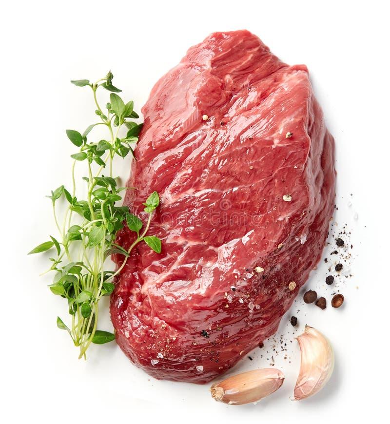 Vers ruw rundvleeslapje vlees royalty-vrije stock foto's