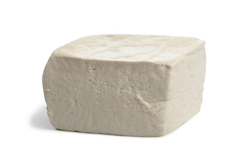 Vers stuk van tofu stock afbeeldingen