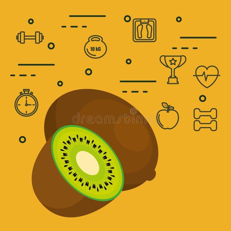 Vers ui vegetarisch voedsel stock illustratie