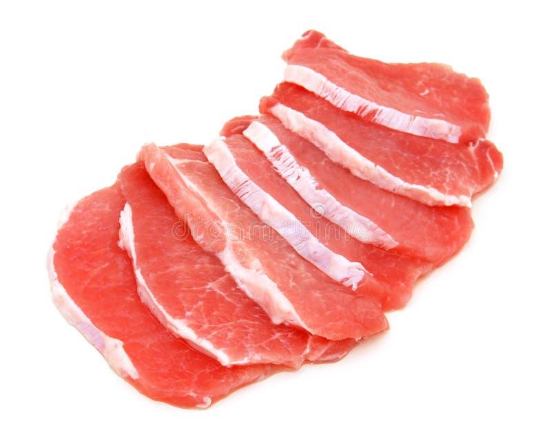 Vers varkensvleesvlees royalty-vrije stock foto's