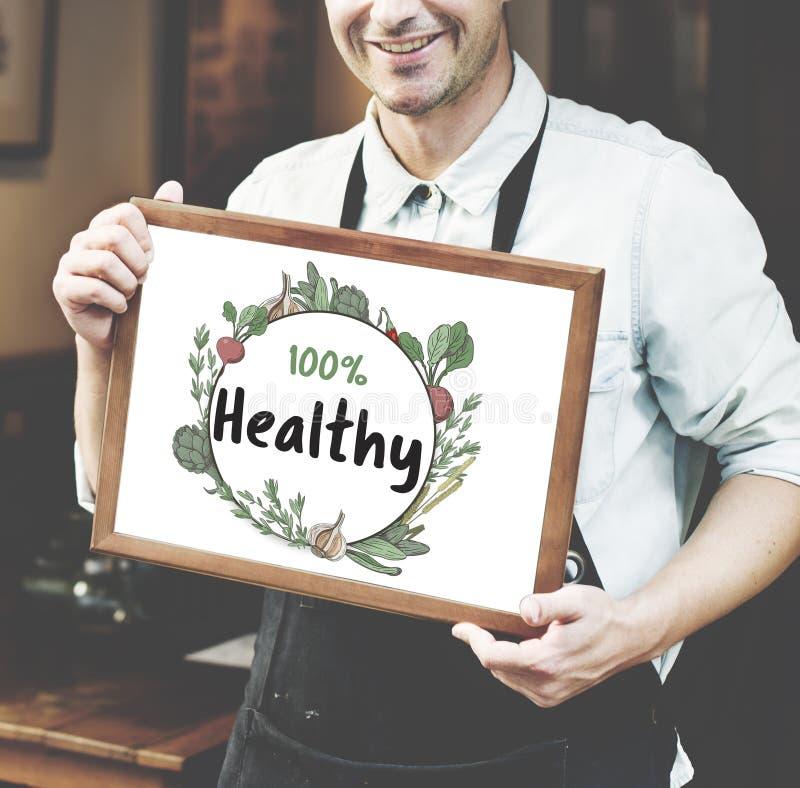 Vers voedzaam groen natuurlijk heathy Concept royalty-vrije stock afbeelding