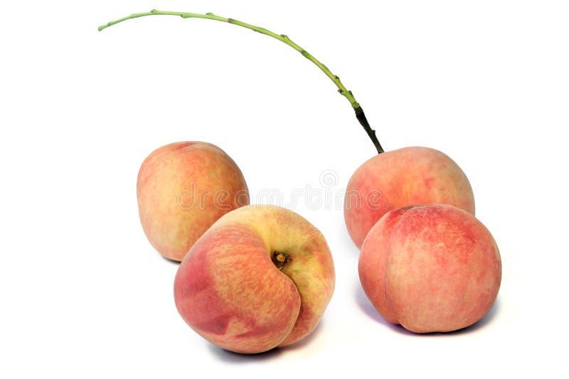 Vers wit perzikfruit op witte achtergrond royalty-vrije stock foto's