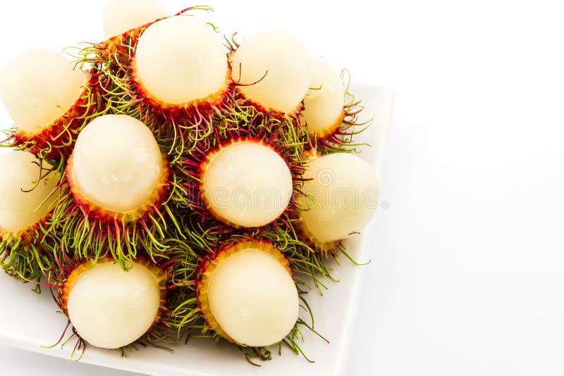 Vers zoet rambutan, tropisch fruit royalty-vrije stock afbeelding