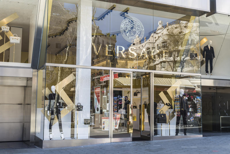 Versace lager, Barcelona royaltyfri foto