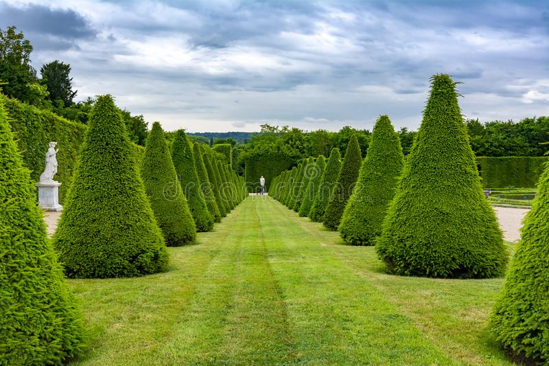 Versailles formal gardens, Paris, France royalty free stock photo