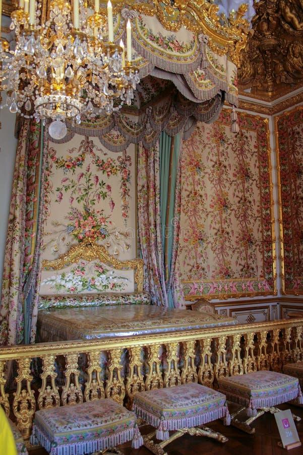 05 05 2008, Versailles, France Intérieur de la chambre à coucher du palais Visite touristique de la France photographie stock
