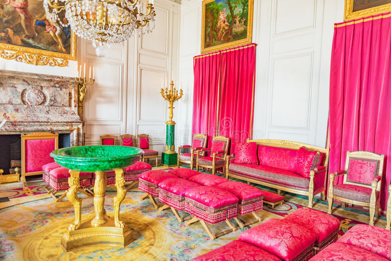 VERSAILLES, FRANCE - 2 JUILLET 2016 : Salon de malachite (apartament image stock