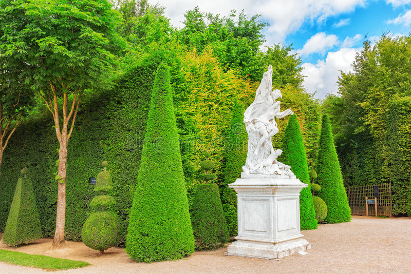 VERSAILLES, FRANCE - JULY 02, 2016 : Beautiful Garden in a Famous Palace of Versailles (Chateau de Versailles), France. stock image