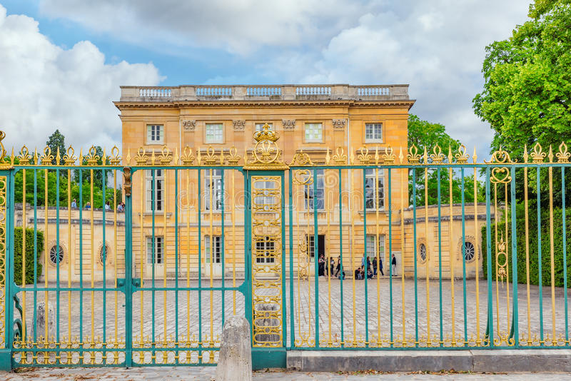 VERSAILLES, FRANCE - JULY 02, 2016 : Petit Trianon-beautiful pal. Ace in a Famous Palace of Versailles (Chateau de Versailles royalty free stock photo