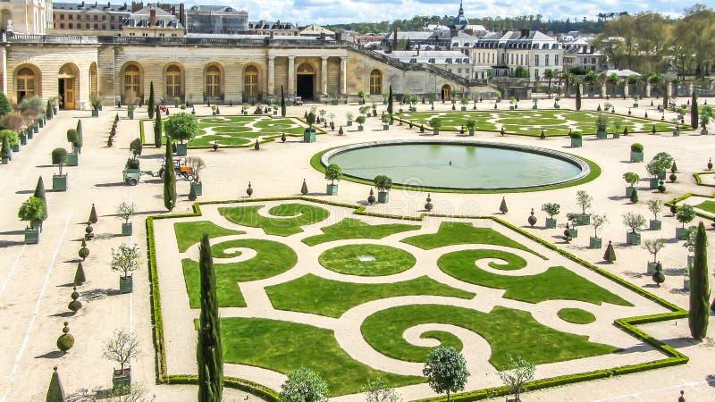 Versailles Francja, Kwiecień, -, 2012: Ogródy Versailles pałac blisko Paryż, Francja zdjęcie royalty free