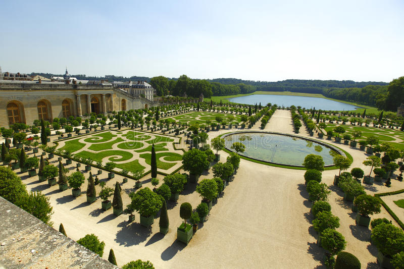 Versailles gardens France. Versailles gardens in France at summer royalty free stock photography