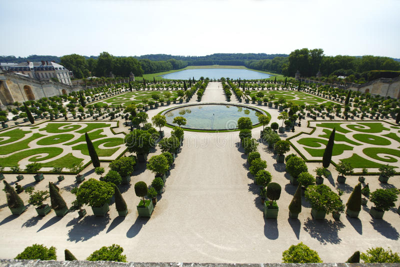 Versailles gardens France. View on Versailles gardens in France stock image