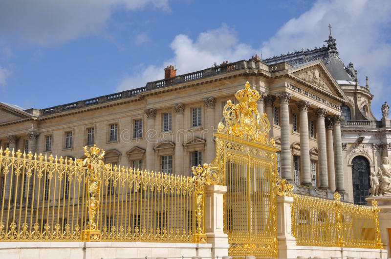 Versailles gold gate stock images
