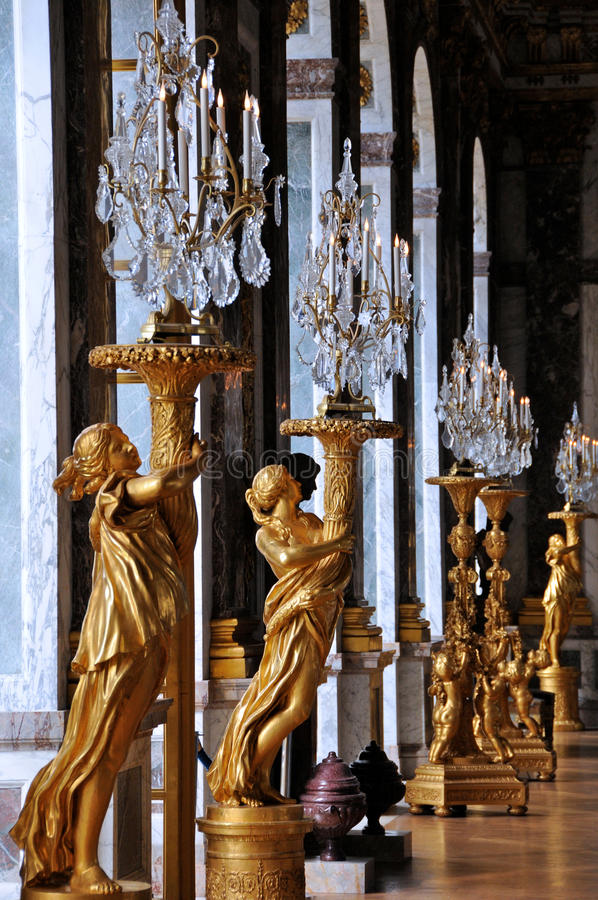 Download Versailles Hall of Mirrors stock image. Image of romantic - 23448869