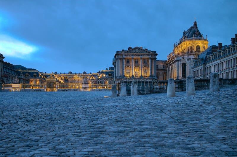 Versailles Palace at night. Versailles Palace near Paris France at night. Space for copy text stock image