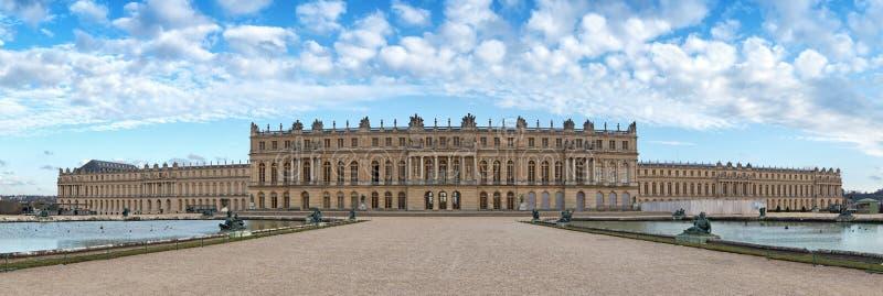 Versailles-Palastrückseitenfassade, Frankreich stockfotos