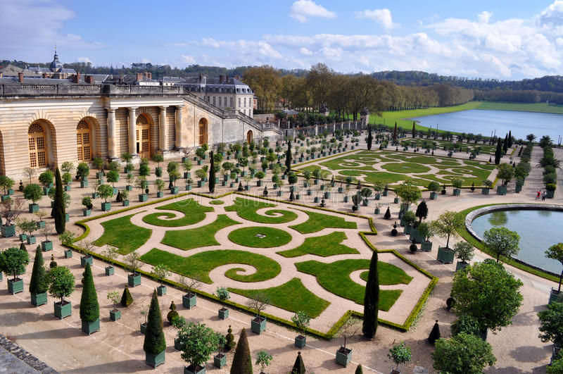 Versailles in Paris, France. Garden at Versailles in Paris, France stock photography