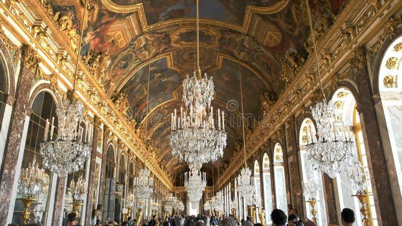 VERSAILLES, PARIS, FRANCE 23 SEPTEMBRE 2015 : hall de Versailles de palais des miroirs, Paris photo libre de droits