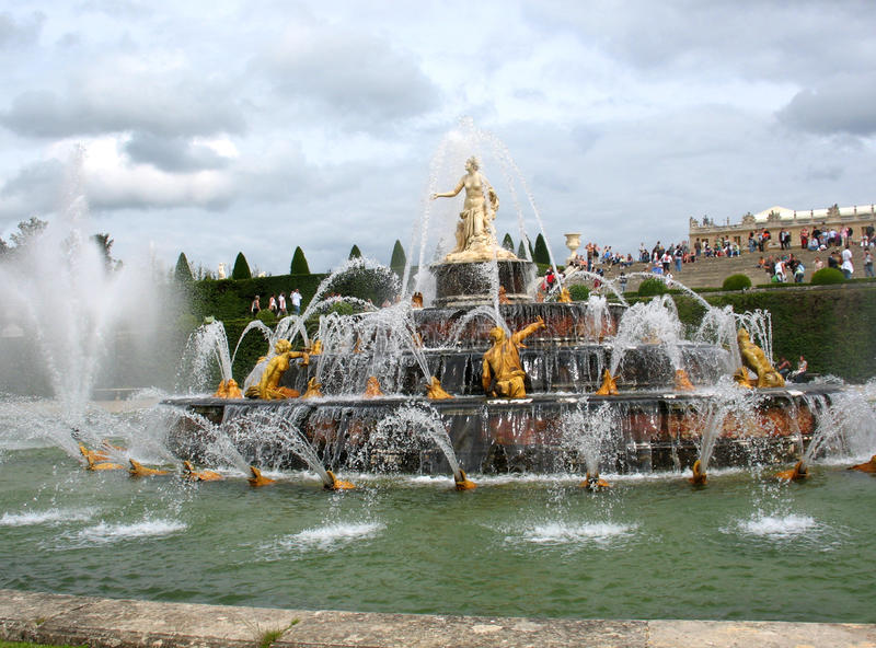 Versailles park royalty free stock photo