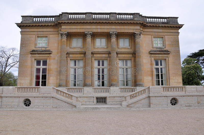 Versailles, Petit Trianon. Petit Trianon, belonging to Versailles, was built by King Louis XV, for his mistress, Madame de Pompadour, between 1762-1768 royalty free stock images