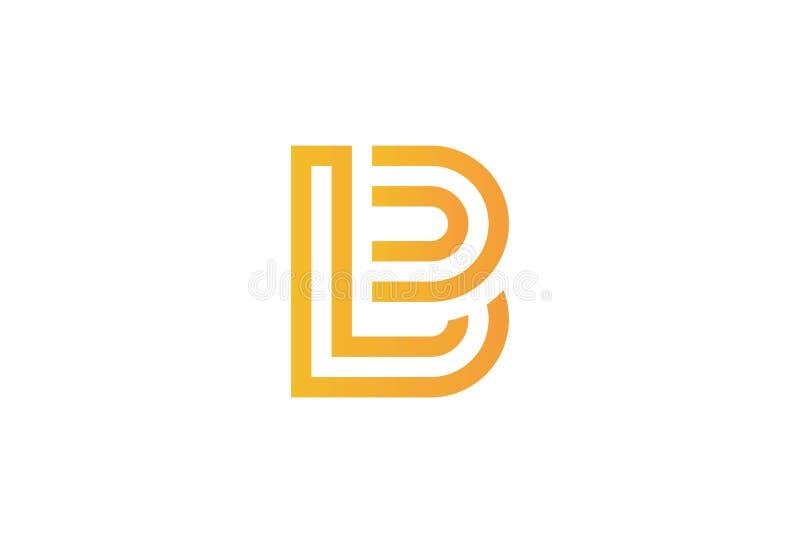 Versal B Logo Design royaltyfri illustrationer