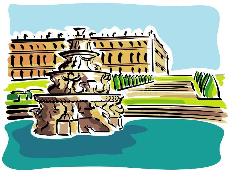 Versalhes (o palácio) ilustração royalty free