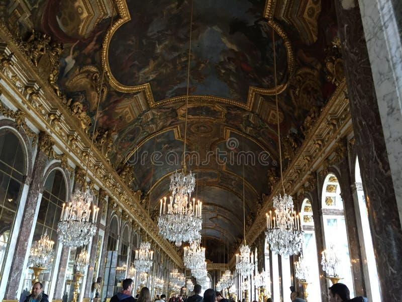 Versalles宫殿屋顶 免版税库存图片