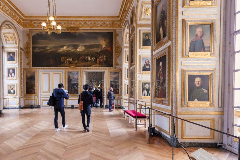 Versalles, Francia - 19 01 2019: Interior del palacio de Versalles del castillo francés de Versalles cerca de París foto de archivo