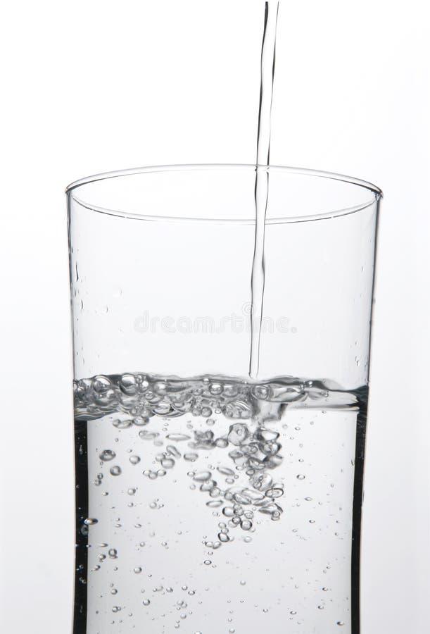 Versamento del bicchiere d'acqua