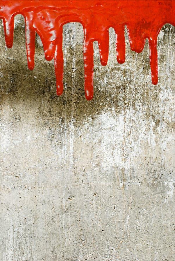 Versamento rosso della vernice fotografia stock