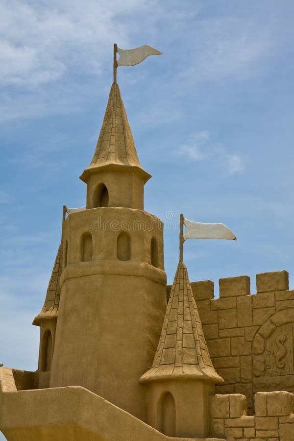 Versanden Sie Schloss-Detail lizenzfreie stockbilder
