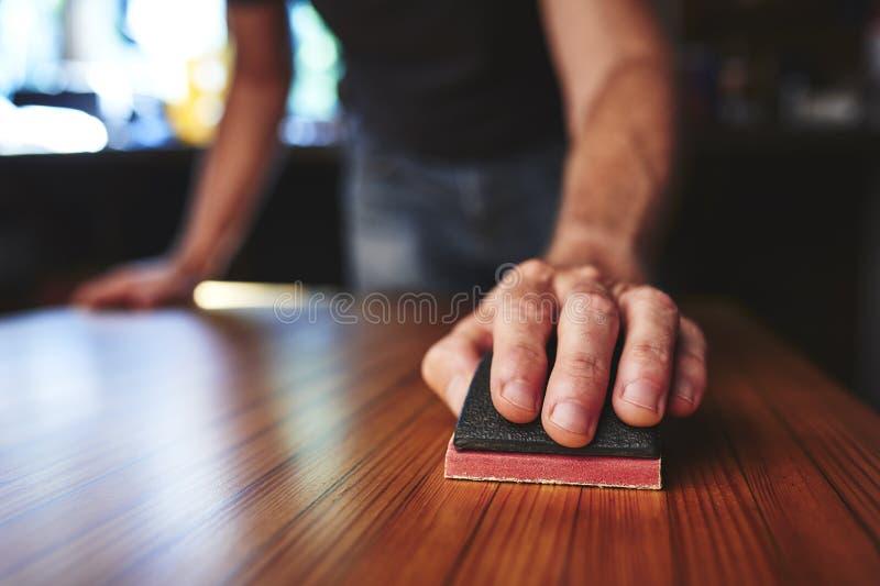 Versandende Tischplatte stockfotografie