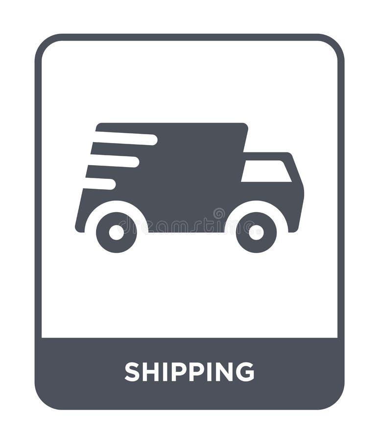 Versandikone in der modischen Entwurfsart Versandikone lokalisiert auf weißem Hintergrund einfache und moderne Ebene der Versandv stock abbildung