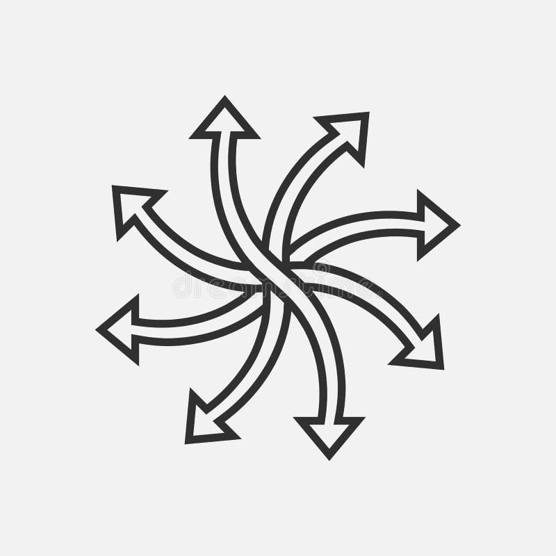 versatile line icon  multifunction sign  vector stock vector