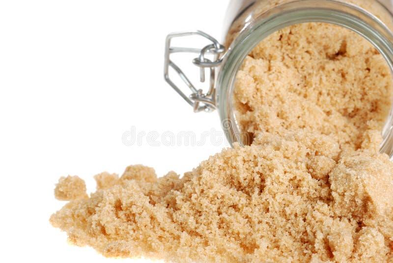 Verschütteter brauner Zucker lizenzfreies stockbild