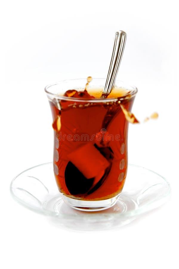 Verschütteter Tee lizenzfreies stockbild