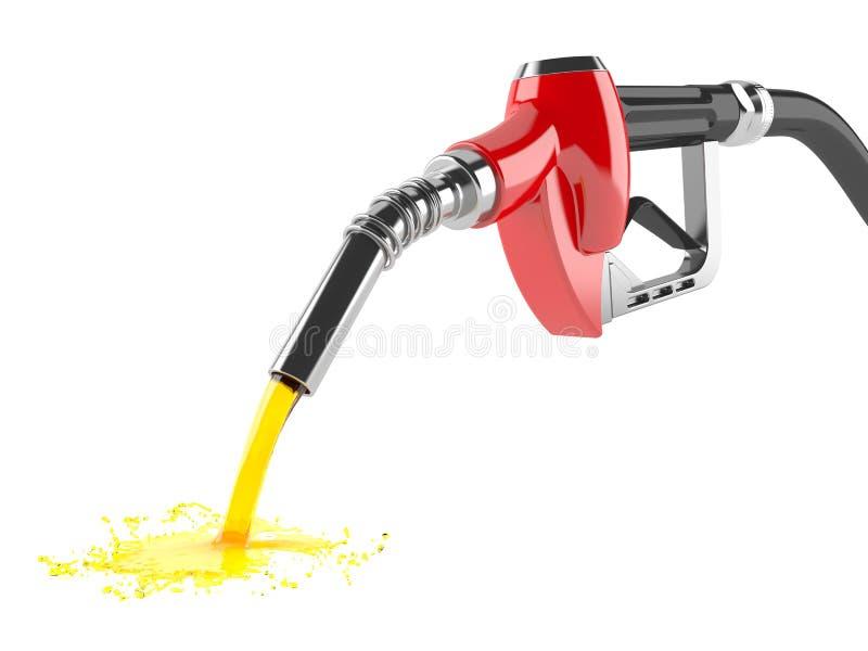 Verschüttetes Benzin vektor abbildung