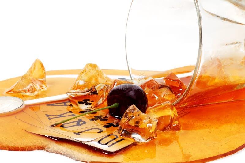 Verschüttetes Getränk stockfotos