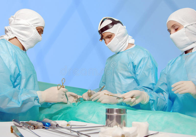 Verscheidene chirurgen stock fotografie