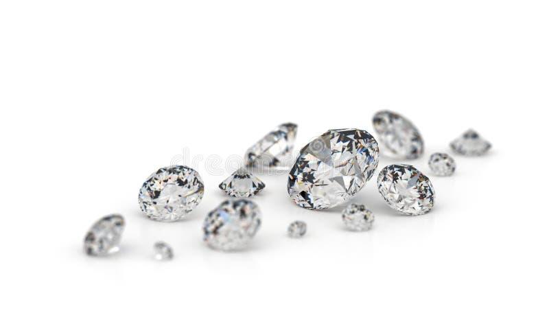Verscheidene diamanten. stock illustratie