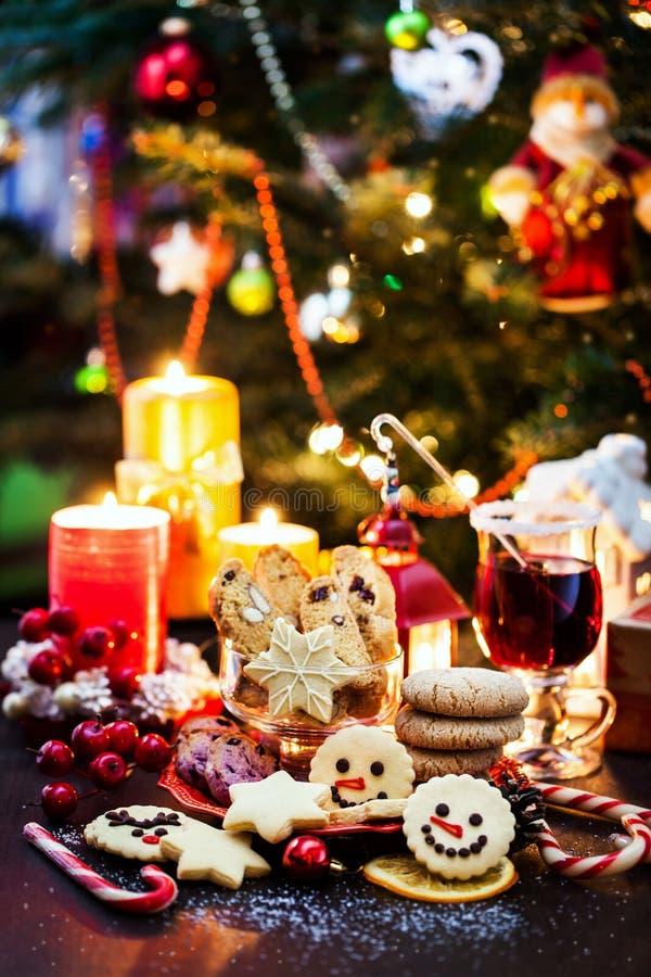 Verscheidene kerstkoekjes, Vakantievorming royalty-vrije stock foto
