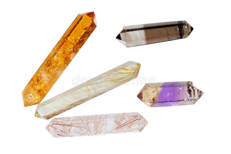 Verscheidene kristallen royalty-vrije stock foto