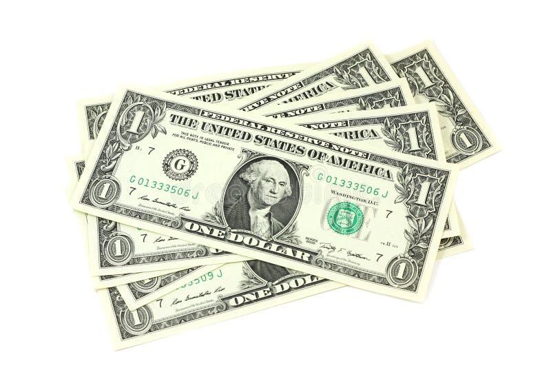Verscheidene rekeningen in één Amerikaanse dollars royalty-vrije stock foto