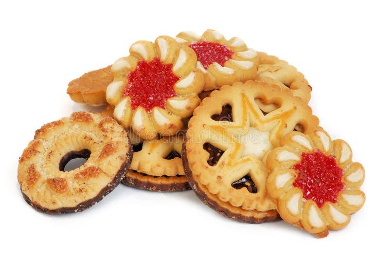 Verscheidene smakelijke koekjes stock foto's
