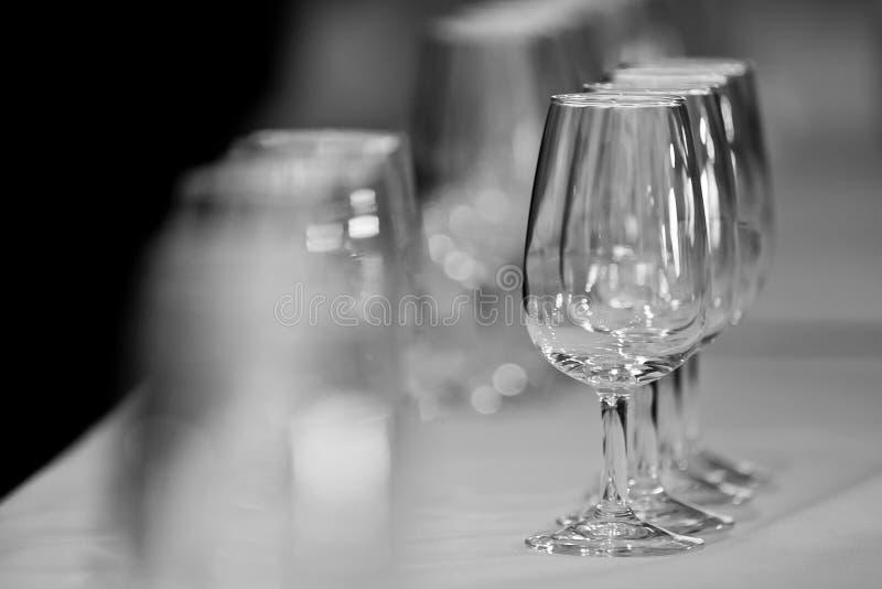 Verscheidene Spaanse glazen genoemd catavinos stock foto