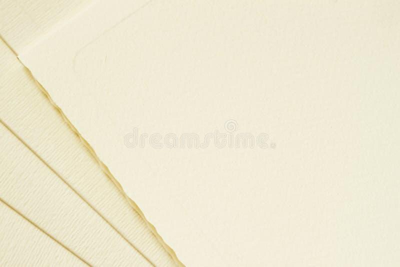 Verscheidene van diverse uitstekende document bladenkaarten, enveloppen Met plaats voor uw tekst, achtergrondgebruik Hoogste meni royalty-vrije stock afbeeldingen