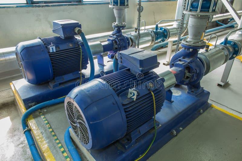 Verscheidene waterpompen met grote motoren royalty-vrije stock foto