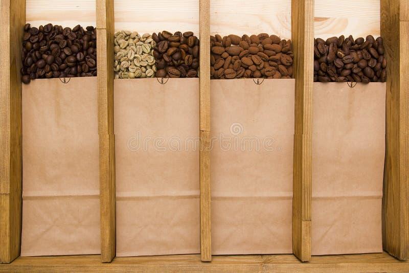 Verscheidenheden van koffie royalty-vrije stock foto's